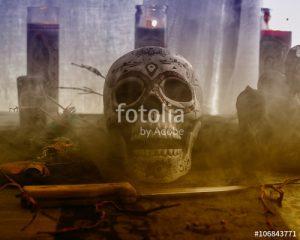 Altar de sacrificios para los hechizos y amarres de amor del maestro Diego